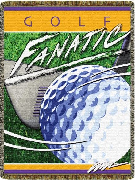 Golf Fanatic Tapestry Throw Blanket Sports And Games