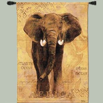 Elephant Tapestry Wall Hanging african voyage i elephant tapestry wall hanging :: outdoors and